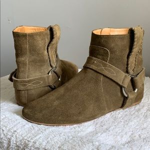 Isabel Marant Brown Suede Ralf Harness Boots 37